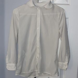 Gucci Womens Uniform White Silk Button Down Blouse